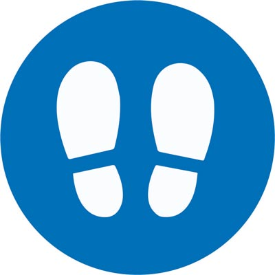 604561-T Footprint standing location indication floor vinyl for coronavirus