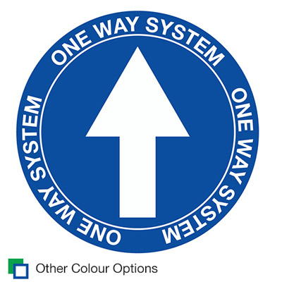 4568 Arrow One Way System signage for coronavirus COVID-19