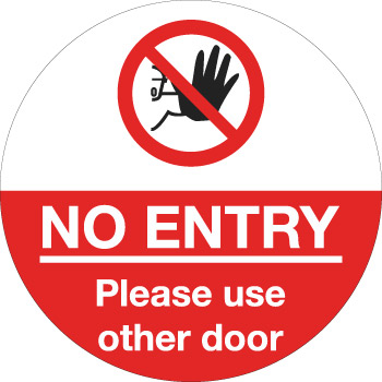 604734 No entry please use other door from Stocksigns Ltd Floor Vinyl