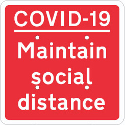 704707 COVID-19 maintain social distance from Stocksigns Ltd safety sign supplier