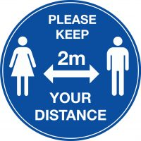 604620/T Please keep your distance floor vinyl Stocksigns Ltd.