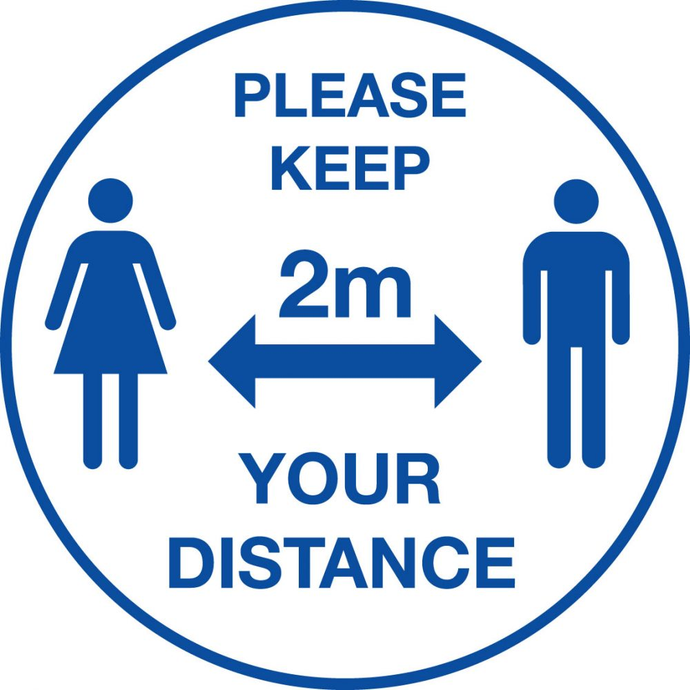 604619/T Please keep your distance floor vinyl Stocksigns Ltd.