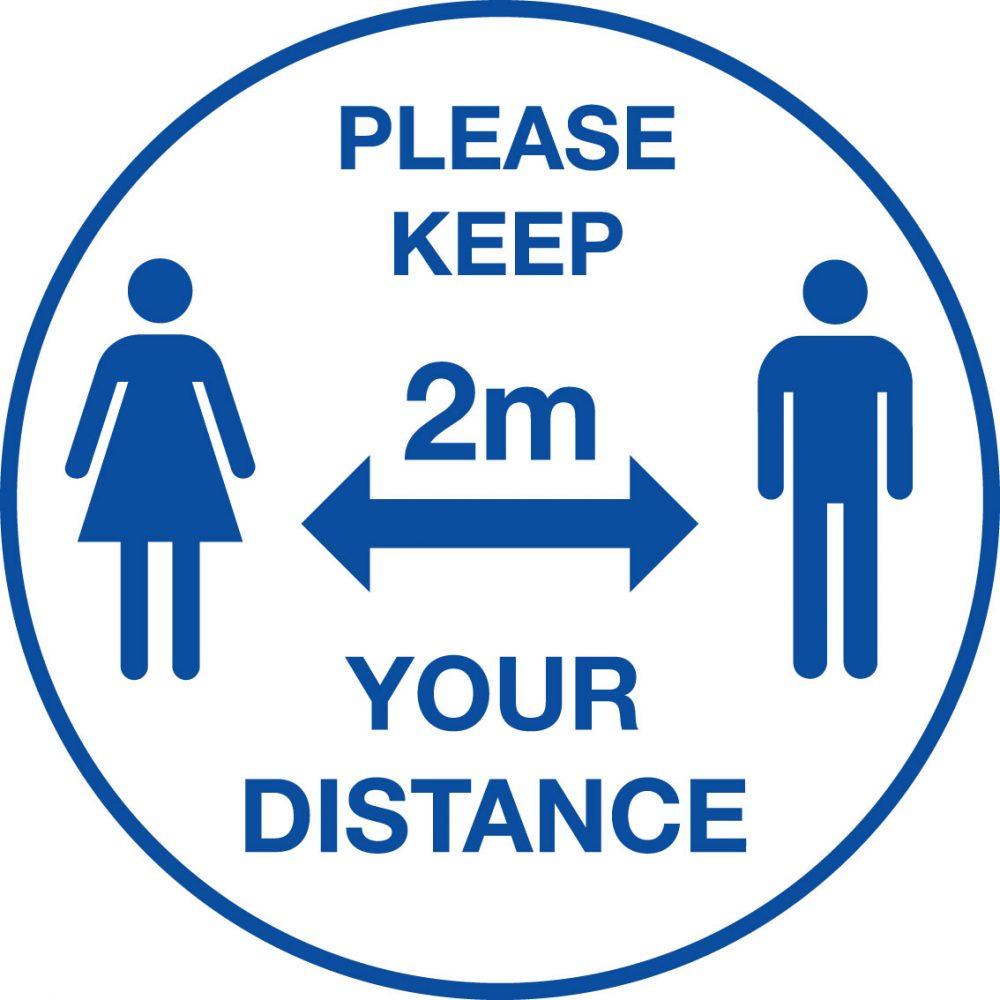 604619/T Please keep your distance floor vinyl Stocksigns Ltd.