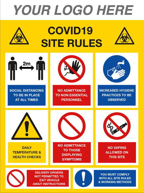 EE90214/4 COVID-19 social distancing sign Stocksigns Ltd