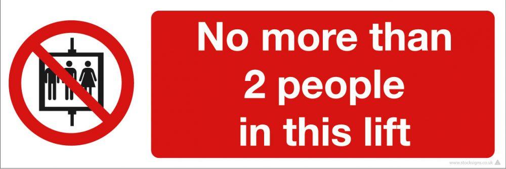 1045 Lift signage for coronavirus COVID-19