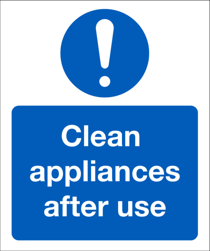 104685JK Clean appliances after use COVID-19