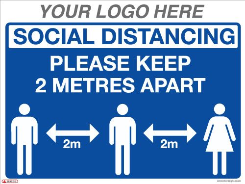 EE90213 Social Distancing Please Keep 2 Metres apart