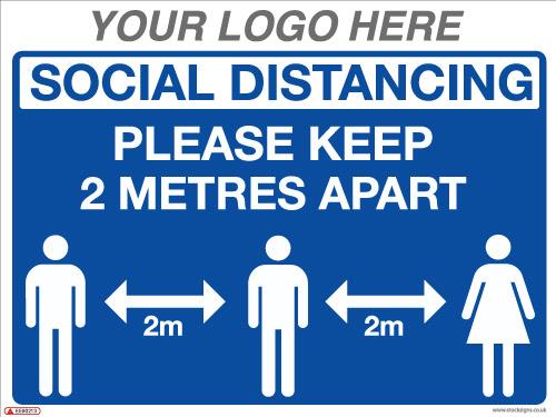 EE90213 Social Distancing Please Keep 2 Metres apart