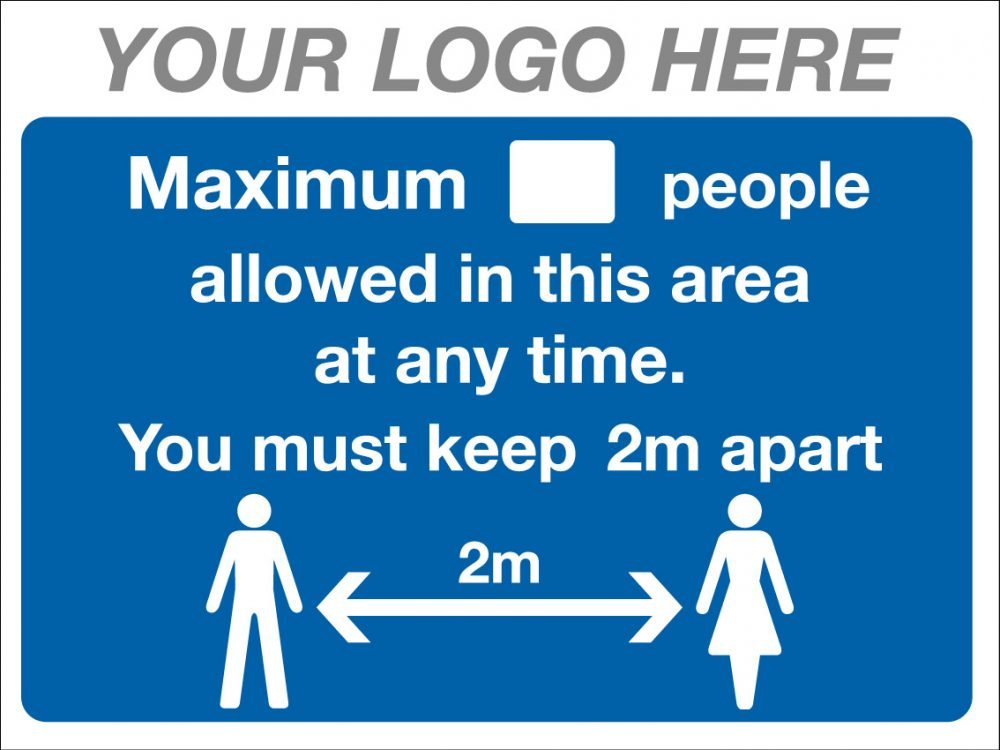 EE90220/4 Maximum allowed in this area COVID-19 Stocksigns Ltd