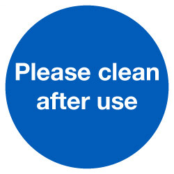 604681 Please clean after use COVID-19 Sticker Stocksigns Ltd.