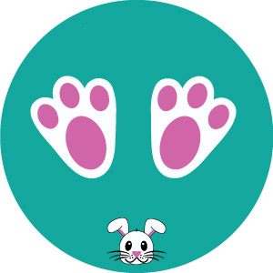 Bunny paw print Footprint Floor Vinyl Teal COVID-19 Signage pack of 10 from Stocksigns Ltd safety signs