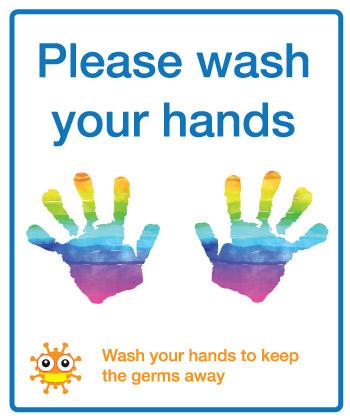 Please wash your hands school sign