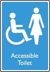 Accessible Female Toilet Sign