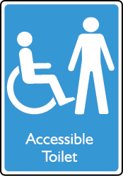 Accessible Male Toilet Sign