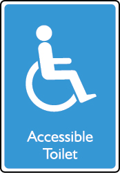 Accessible Toilet Sign