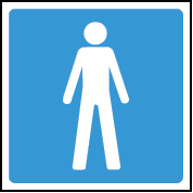 Male image washroom/toilet sign