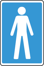 Men's Toilet sign