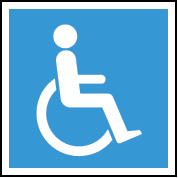 Accessible image toilet/washroom sign