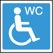 Accessible WC image toilet/washroom sign
