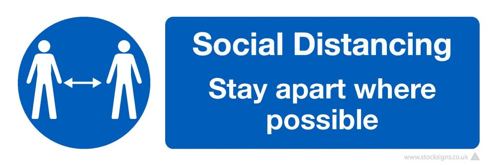 4775 Social Distancing COVID-19 Signage