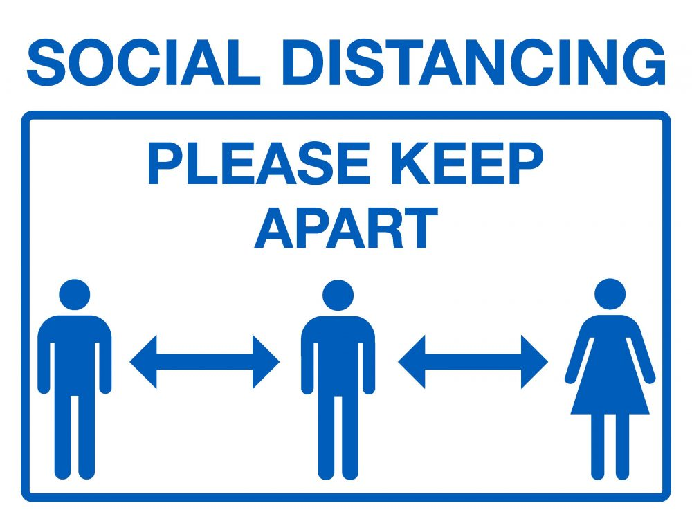 Social Distancing Please Keep Apart