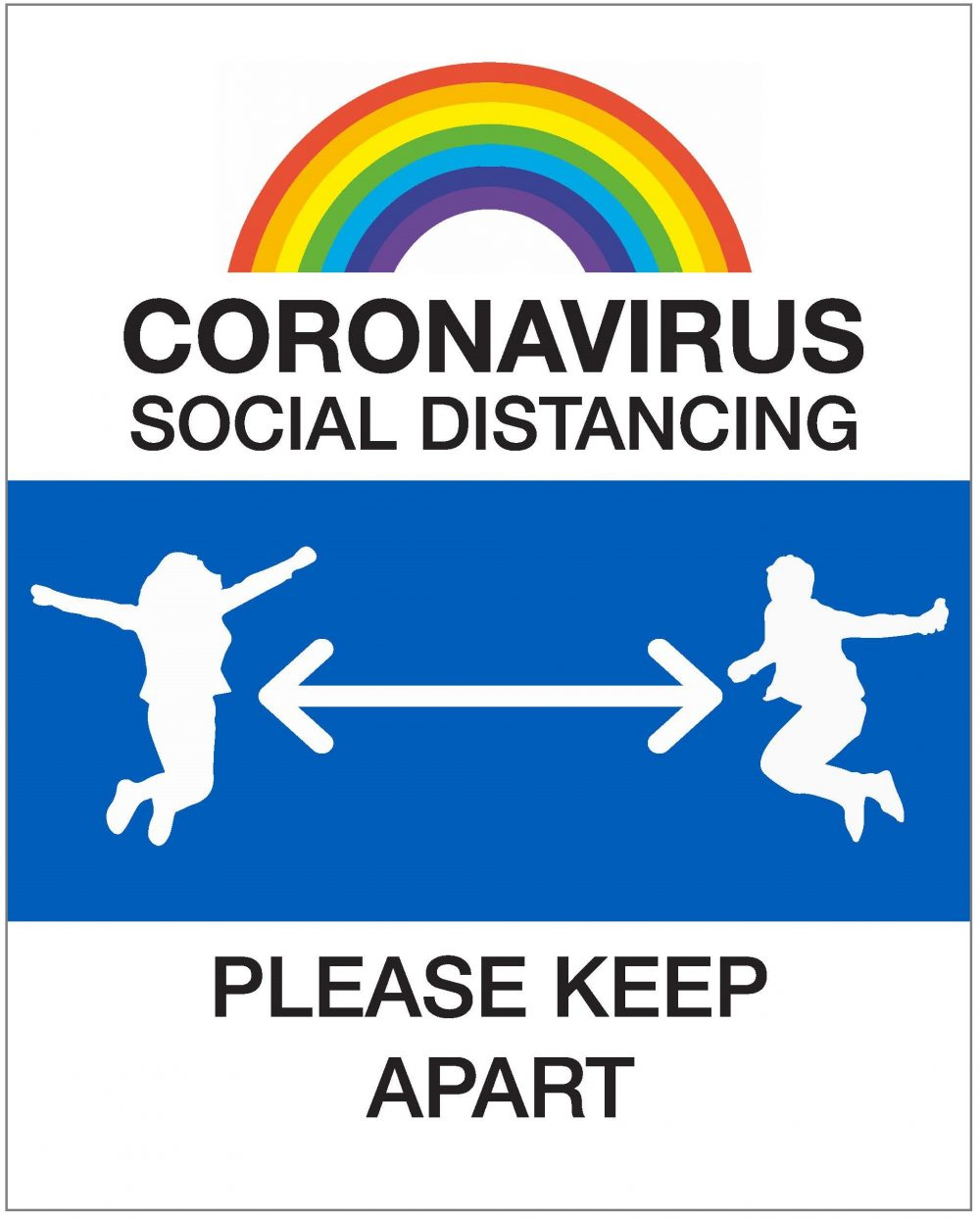 4791 COVID 19 School sign social distancing