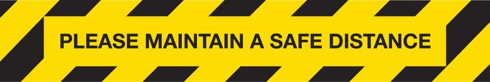 Please maintain a safe distance