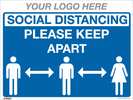 EE90230 generic social distancing sign