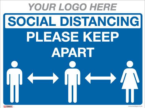 EE90230 generic social distancing sign