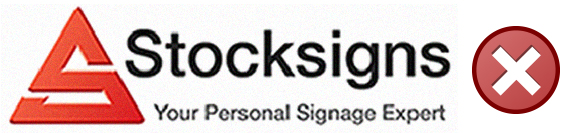 Incorrect Artwork Guidelines for custom made signs from Stocksigns Ltd
