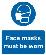 Face mask must be worn sign.