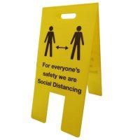 social distancing a board COVID-19