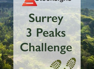 Surrey 3 Peaks Banner Charity Fundraiser from Stocksigns and Messagemaker Displays thumbnail blog
