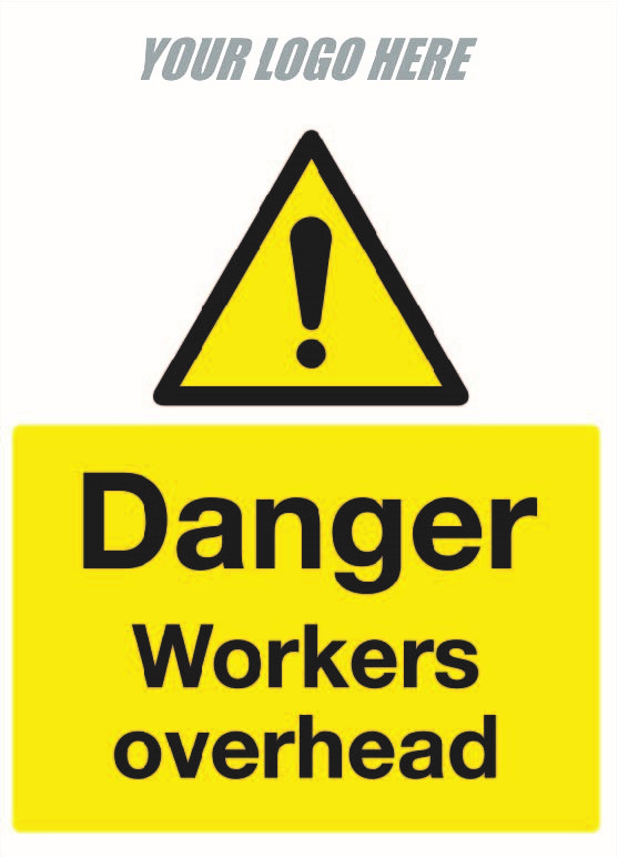 Danger workers overhead.