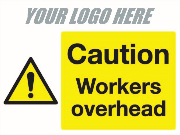 Caution Workers overhead