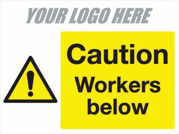 Caution Workers below