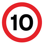 speed 10mph road sign thumbnail