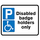 road Traffic signs disabled