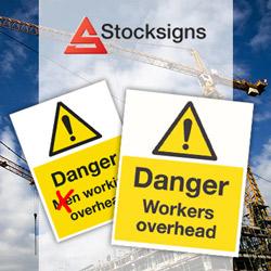 Danger Workers overhead