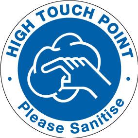 15007DD High touch point circle sticker