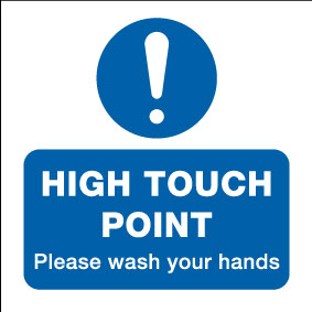 15009DD High Touch Point please wash your hands