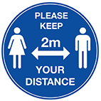 COVID 2 metre signs from Stocksigns ltd safety sign manufacturer