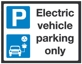 Electric Vehicle Parking Only.