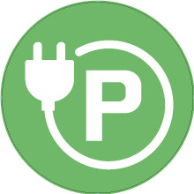 Electric Car Charging Car Park sign
