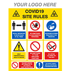 COVID construction signs from Stocksigns ltd safety sign manufacturer