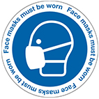 COVID face mask signs from Stocksigns ltd safety sign manufacturer