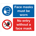 COVID retail signs from Stocksigns ltd safety sign manufacturer