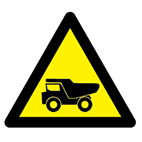 vehicle safety warning and hazard safety signs