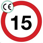 CE Certified Speed Signs
