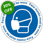 face covering face mask signage 30% sale from stocksigns ltd